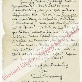 Schering, Emil, Schriftsteller (1873-1951).