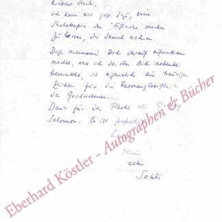 Sahl, Hans, Schriftsteller (1902-1993).