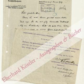 Bernstein, Eduard, Schriftsteller und Sozialdemokrat (1850-1923).
