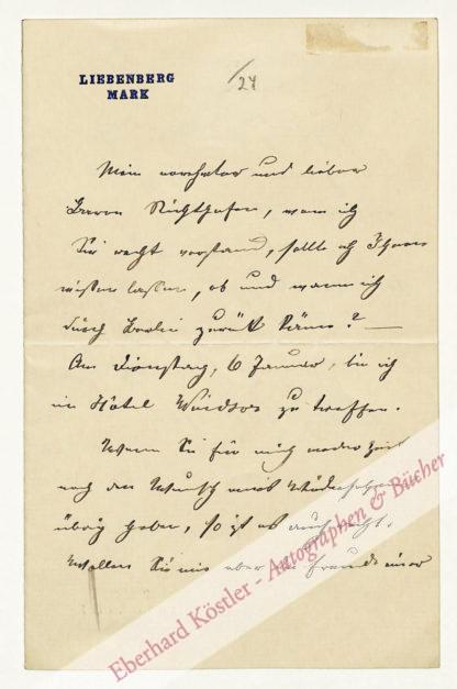 Blennerhassett, Lady Charlotte (geb. von Leyden), Schriftstellerin (1843-1917).
