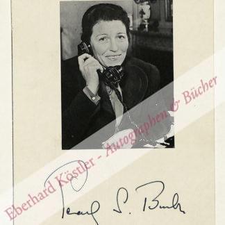 Buck, Pearl S[ydenstricker], Schriftstellerin und Nobelpreisträgerin (1892-1973).