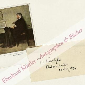 Carlyle, Thomas, Schriftsteller und Historiker (1795-1881).