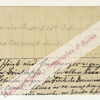 Grillparzer, Franz, Schriftsteller (1791-1872).