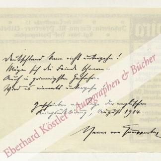 Gumppenberg, Hanns von, Schriftsteller (1866-1928).