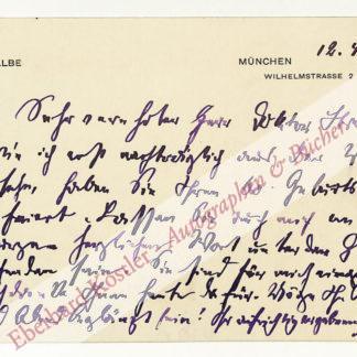 Halbe, Max, Schriftsteller (1862-1944).