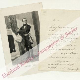 Lamartine, Alphonse de, Schriftsteller und Politiker (1790-1869).