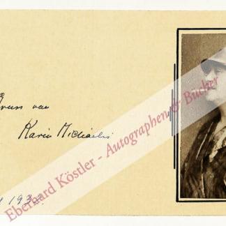 Michaelis, Karin, Schriftsteller (1872-1950).