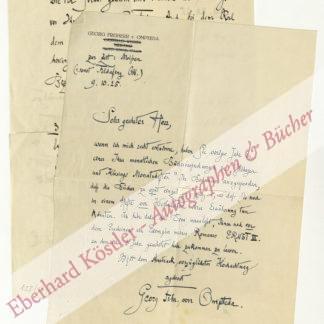 Ompteda, Georg von, Schriftsteller (1863-1931).
