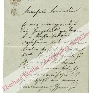 Paoli, Betty, Schriftstellerin (1814-1894).