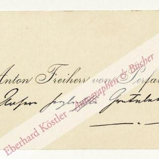 Perfall, Anton Freiherr von, Schriftsteller (1853-1912).