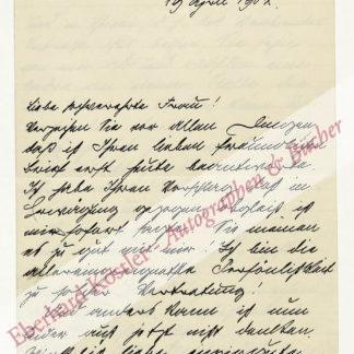 Schanz, Frida, Schriftstellerin (1859-1944).