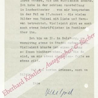 Spiel, Hilde, Schriftstellerin (1911-1990).