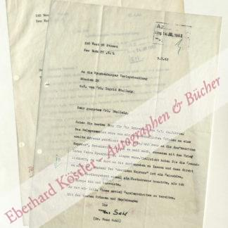 Sahl, Hans, Schriftsteller, Literaturkritiker, Übersetzer (1902-1993).