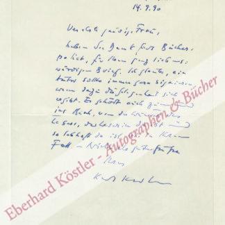 Krolow, Karl, Schriftsteller (1915-1999).