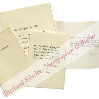 Kasack, Hermann, Schriftsteller (1896-1966).