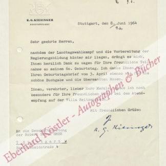 Kiesinger, Kurt Georg, Bundeskanzler (1904-1988).