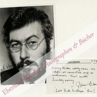 Osborne, John, Schriftsteller (1929-1994).