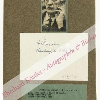 Piccard, Auguste, Stratosphären- und Tiefseeforscher (1884-1962).