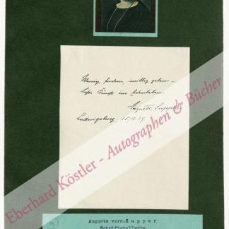 Supper, Auguste, Schriftstellerin (1867-1951).