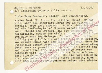 Wohmann, Gabriele, Schriftstellerin (geb. 1932).