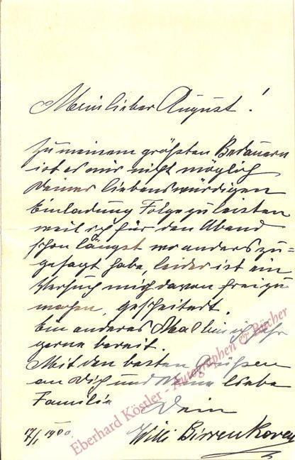Birrenkoven, Willi, Tenor und Theaterdirektor (1865-1955).