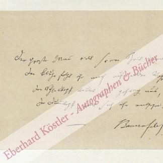 Bauernfeld, Eduard von, Schriftsteller (1802-1890).