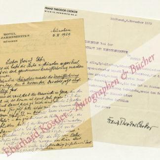 Csokor, Franz Theodor, Schriftsteller (1885-1969).
