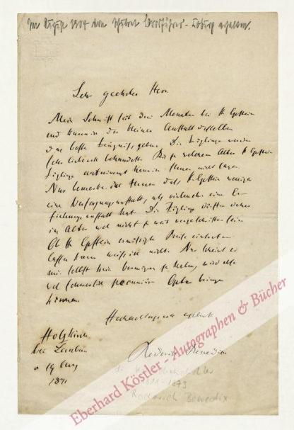 Benedix, Roderich, Schriftsteller (1811-1873).