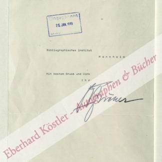 """Fischer, Otto Wilhelm (""""O. W.""""), Schauspieler (1915-2004)."""