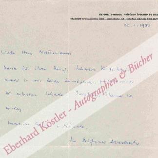 Andersch, Alfred, Schriftsteller (1914-1980).