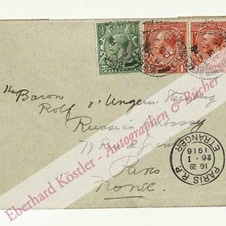 Kipling, Rudyard, Schriftsteller und Nobelpreisträger (1865-1936).