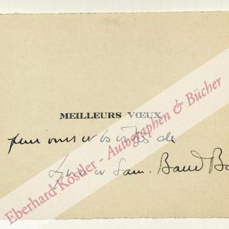 Baud-Bovy, Samuel, Musiker (1906-1986).