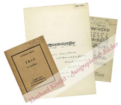 Beck, Conrad, Komponist (1901-1989).