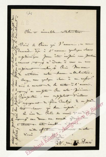 Boieldieu, Adrien Louis, Komponist (1815-1883).