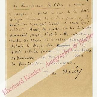 Moréas, Jean, Schriftsteller (1856-1910).