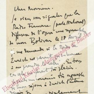Milhaud, Darius, Komponist (1892-1974).