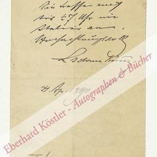 Kunz, Ludwig Adam, Maler (1857-1929).