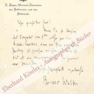 Walter, Bruno, Dirigent und Komponist (1876-1962).
