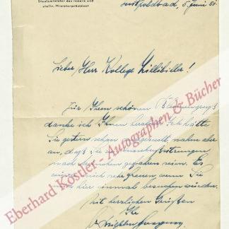 Hoegner, Wilhelm, Bayerischer MInisterpräsident (1887-1980).