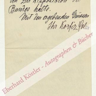 Holm, Korfiz, Schriftsteller und Verleger (1872-1942).