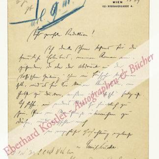 Lucka, Emil, Schriftsteller (1877-1941).