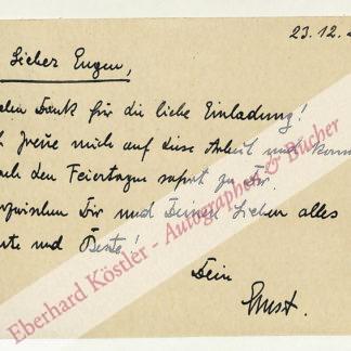 Hoferichter, Ernst, Schriftsteller (1895-1966).