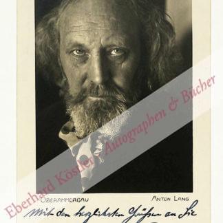 Lang, Anton, Passions-Darsteller (1875-1938).