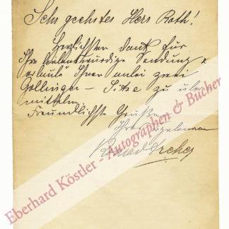 Dreher, Konrad, Schauspieler und Sänger (1859-1944).