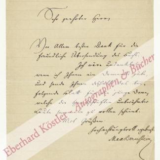 Bernstein, Max, Theaterkritiker und  Jurist (1854-1925).