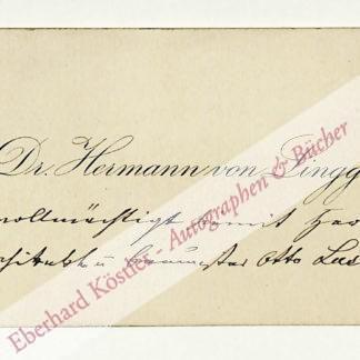 Lingg, Hermann Ritter von, Schriftsteller und Arzt (1820-1905).