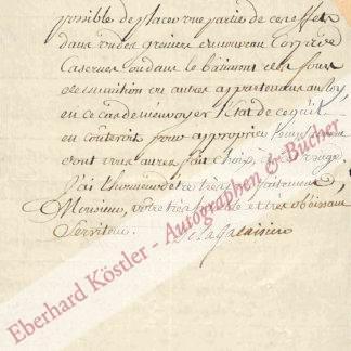 Chaumont de La Galaizière (Galaisière), Antoine (III.), Intendant von Lothringen (1727-1812).