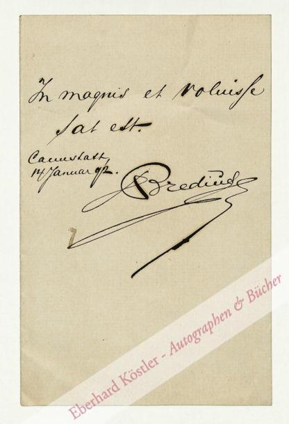 Bredius, Abraham, Kunsthistoriker (1855-1946).