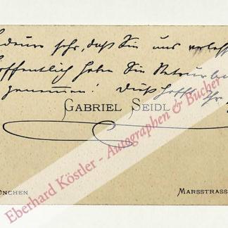 Seidl, Gabriel, Baumeister (1848-1913).