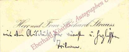 Strauss, Richard, Komponist (1864-1949).